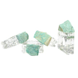 Amazonite Napkin Rings - Set of 4