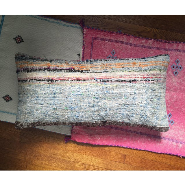 Moroccan Striped Kilim Pillow Cover - Image 4 of 11