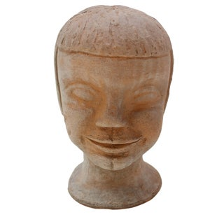 Vintage Studio Pottery Head Bust