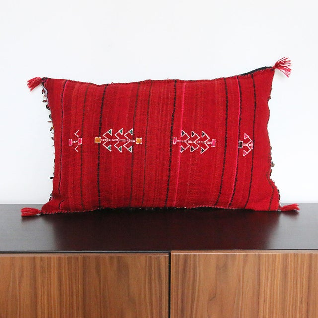 Handcrafted Moroccan Kilim Pillow IV - Image 3 of 6