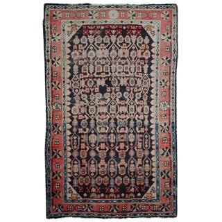 "1920s Handmade Antique Persian Malayer Rug - 4' x 6'3"""