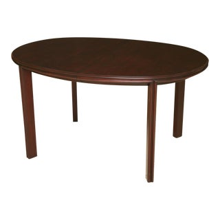 Mid Century Modern Paul Frankl 3-leaves Oval Dining Table for Johnson Furniture