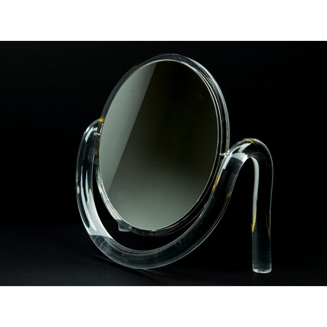Image of Dorothy Thorpe Lucite Tabletop Make-Up Mirror