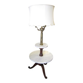 Vintage Marble Top Lamp Table