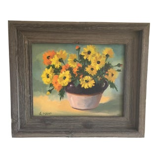 Vintage Rustic Floral Painting