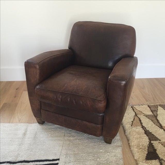 Restoration Hardware Leather Chair: Restoration Hardware French Leather Club Chair