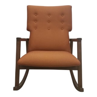 DWR Jens Risom Burnt Orange Rocking Chair