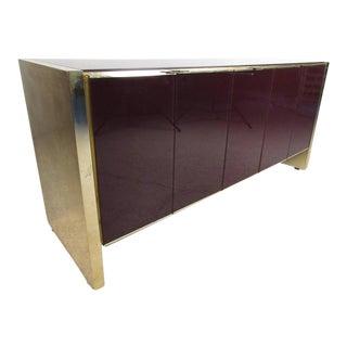 Stylish Vintage Modern Glass Front Server by Ello Furniture