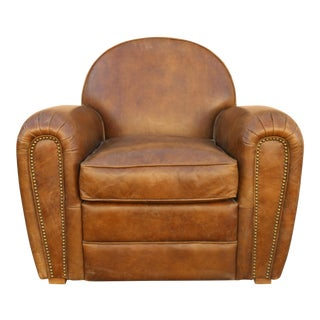 Leather Club Single Chair