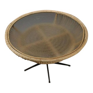 Mid-Century Bamboo Coffee Table