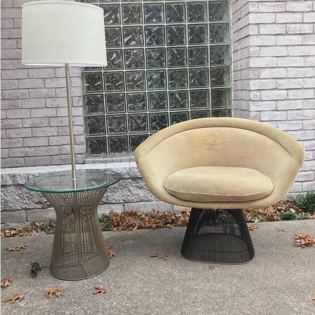 Platner for Knoll Sandstone Velvet Lounge Chair - Image 5 of 6