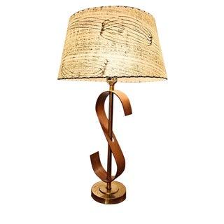 Mid-Century Bentwood Danish Style Lamp