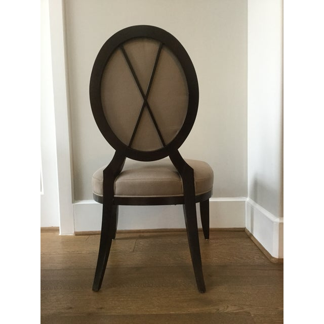 Barbara Barry Oval X Back Dining Chairs Set Of 8 Chairish