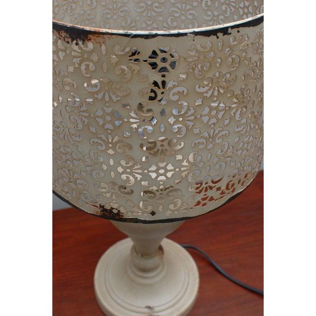 Cream Metal Nostalgia Lamp - Image 4 of 5