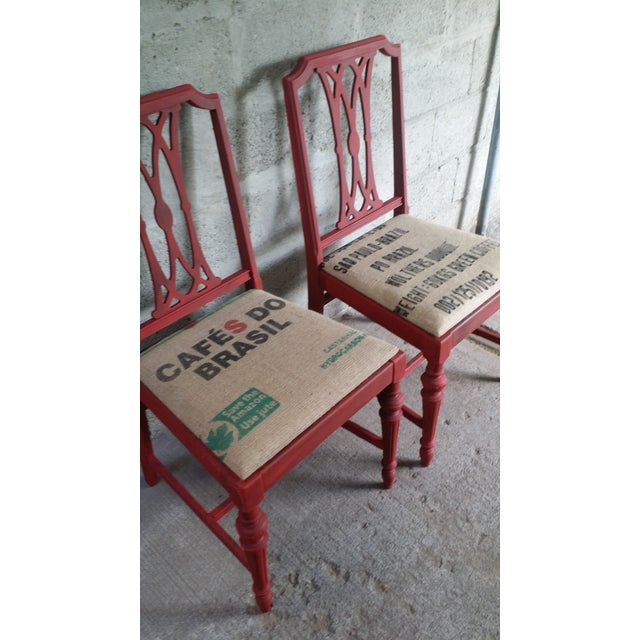 Image of Red Vintage Chairs - A Pair