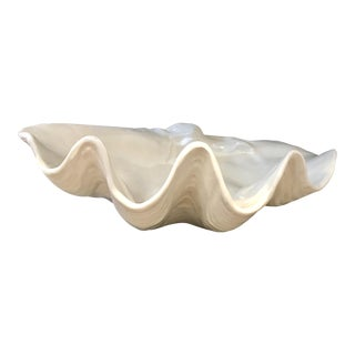 Italian Porcelain Clam Shell Bowl