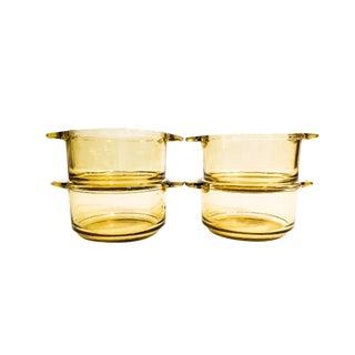 Mid-Century Amber Ramekin Dishes - Set of 4
