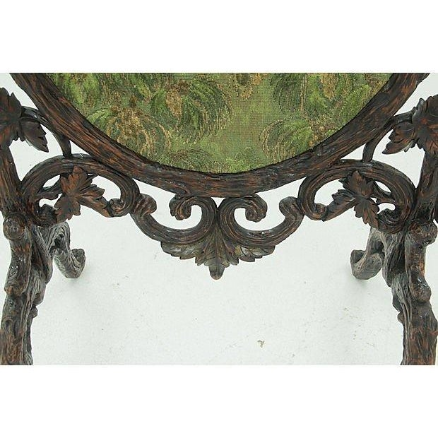 19th Century Black Forest Carved Fireplace Screen - Image 5 of 6
