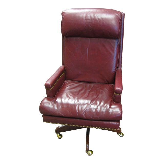 World Market Red Leather Chair: Red Executive Leather Chair