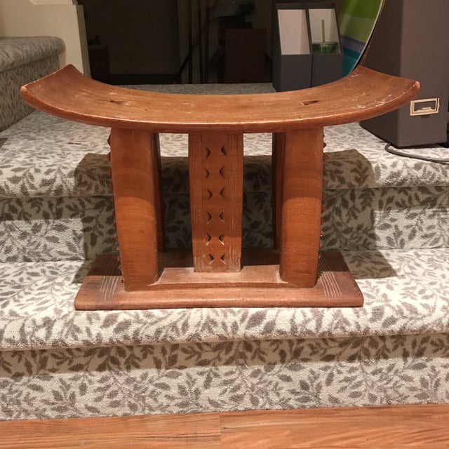 AFrican Wooden Bench - Image 4 of 4