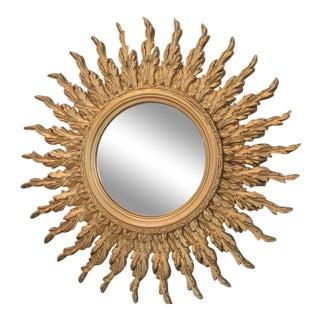 Vintage Gold Gilt Sunburst Mirror