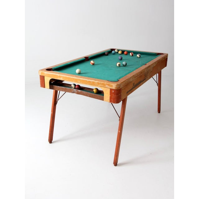 Mid-Century Burrowes Portable Pool Table