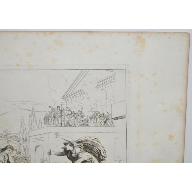 """Bartolomeo Pinelli Engraving """"The Sabine Rats Under the Rein of Romulus"""" c.1816 - Image 3 of 8"""