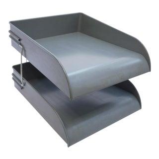 Globe Wernicke Metal Desk Tray Set