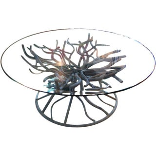 Iron Coral Branch Cocktail Table
