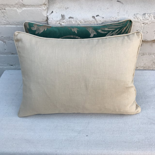 Hand Stenciled Velvet Pillows - A Pair - Image 6 of 6
