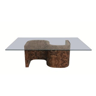 """Mid Century Modern """"S"""" Shaped Coffee Table"""
