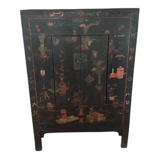 Chinese Hand Painted Armoire