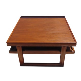 Refinished Square John Keal Coffee Table