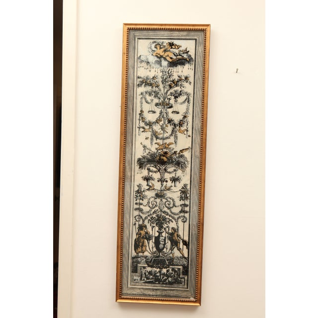 Vintage Reverse Painted French Panel - Image 2 of 7