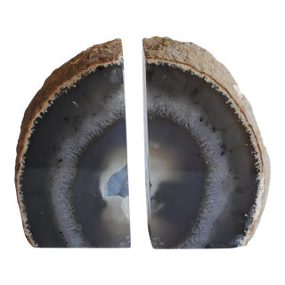 Polished Geode Bookends