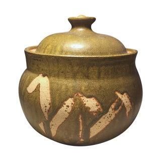 Mid-Century Studio Art Pottery Covered Bowl