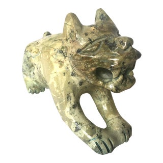 Carved Stone Guardian Lion