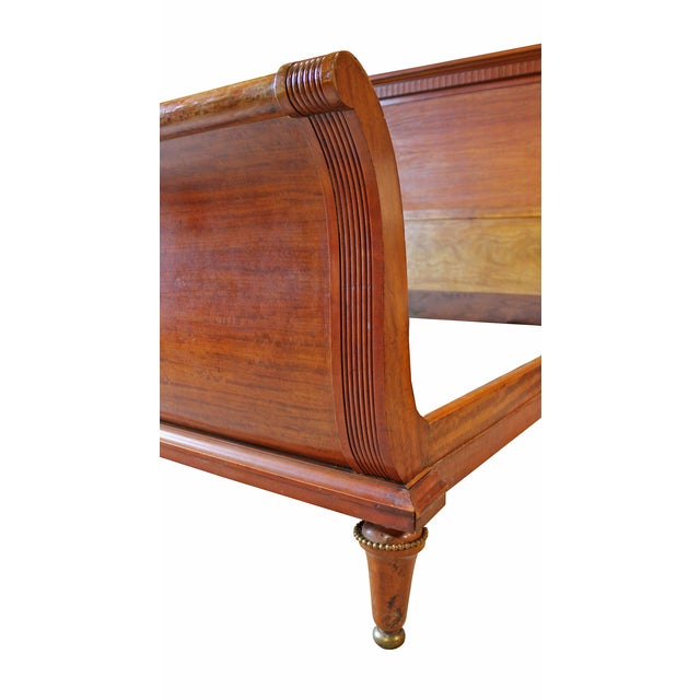 """Antique Deco """"Empire"""" Style Sleigh Bed - Image 3 of 5"""