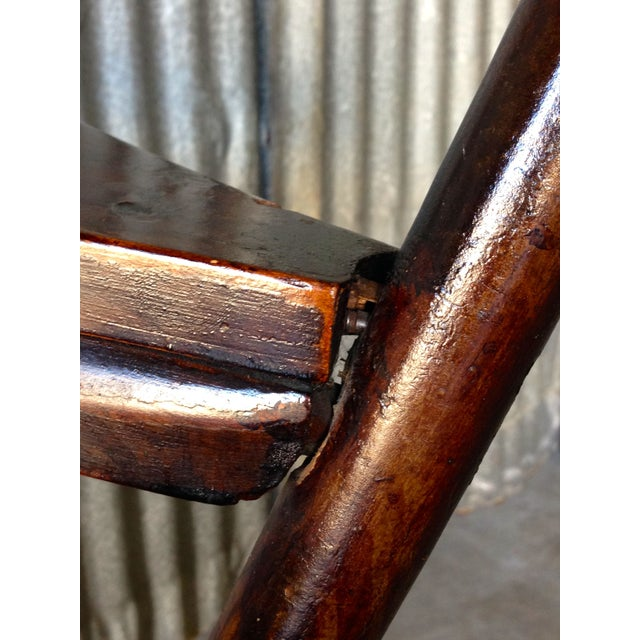 Image of Early New England Windsor Writing Chair