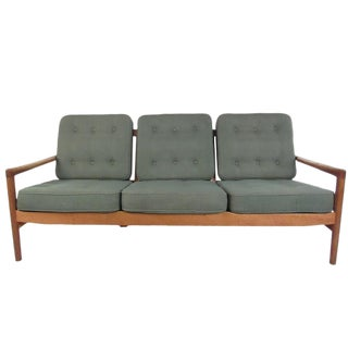 Mid-Century Modern Sofa in the Style of Ib Kofod-Larsen