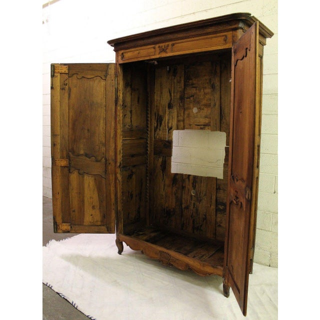 18thC Large French Country Wooden Armoire - Image 3 of 10