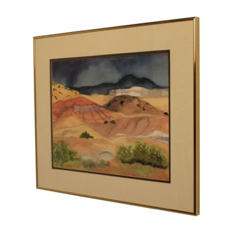 """Watercolor Artwork """"Afternoon Storm in New Mexico"""" - Image 2 of 5"""