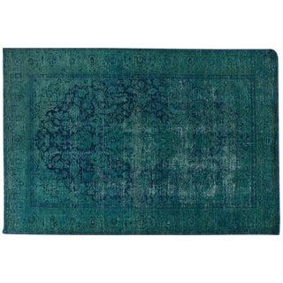 Blue Turquoise Overdyed Rug - 6′4″ × 9′4″