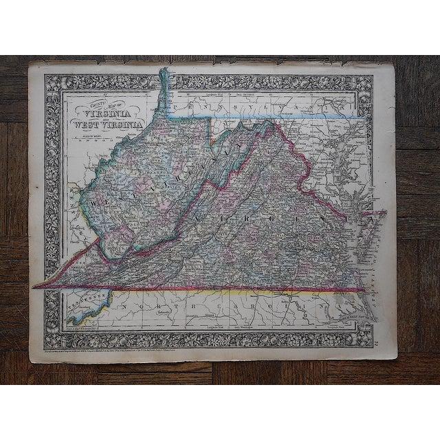 Antique 1862 Virginia & West Virginia Map - Image 3 of 3