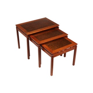 Brutalist Copper-Top Nesting Tables - Set of 3