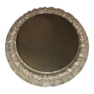 Mid-Century Textured Lucite Lighted Mirror