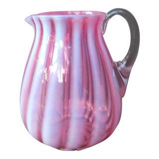 Cranberry Blown Glass Pitcher