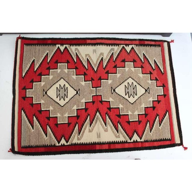 Navajo Indian Ganado Woven Saddle Blanket - Image 3 of 4