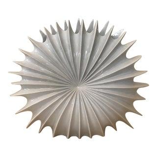 White Biomorphic Spiky Nautilus Vase