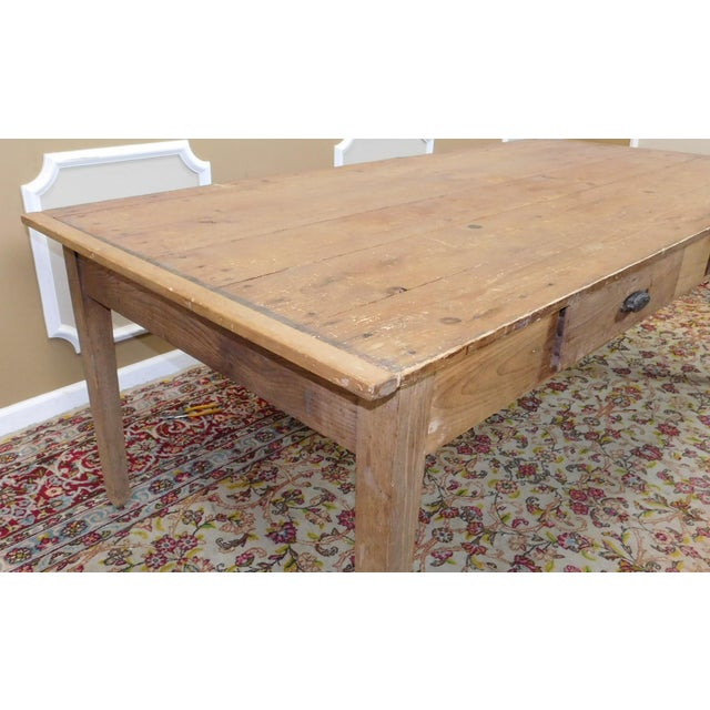 Pine Dining Room Table: Primitive Rustic Pine Dining Room Table